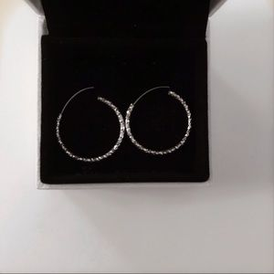 3/$30 ✨ Silver sparkle hoops
